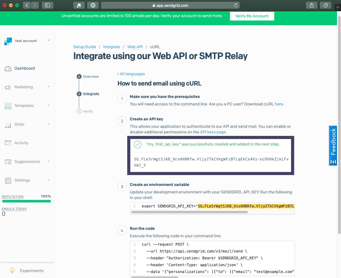 Sendgrid API Key
