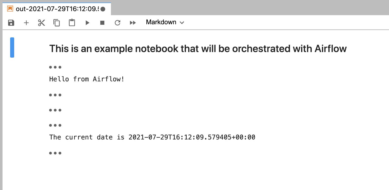 Output notebook